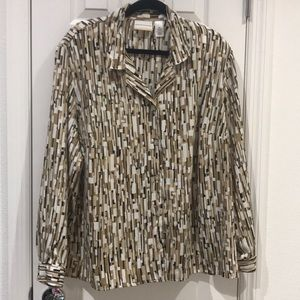 Alfred Dunner Printed Blouse SiW 22W